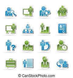 gestion, icones affaires