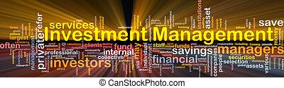 gestion, incandescent, concept, investissement, fond
