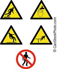 gestion, projection, site, symboles, industriel, sécurité, lieu travail, signes