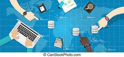 gestion, stockage, virtualization, base données