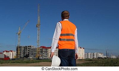 gilet, maison, signal, objet, construction, habitation, inspecteur, inspecte