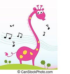 girafe, chant