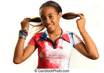 girl, adorable, africaine