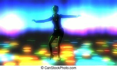 girl, animation, danse