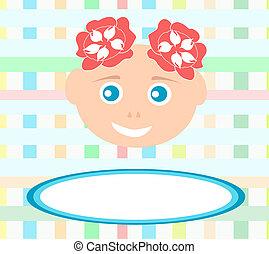 girl, bakground, résumé, bébé, mignon, sourire