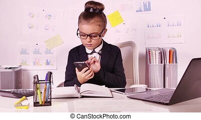 girl, bureau affaires