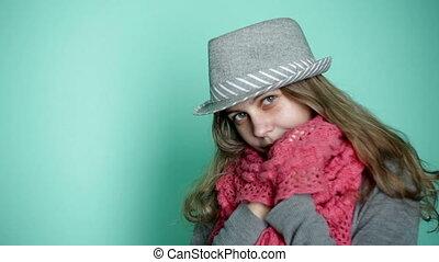 girl, chapeau, beau