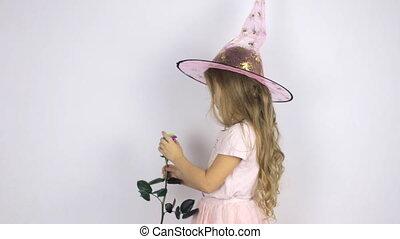 girl, chapeau, carnaval