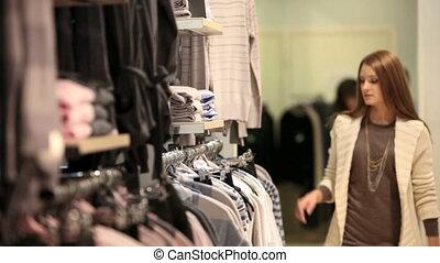 girl, choisir, vêtements