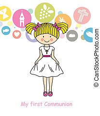 girl, communion, premier