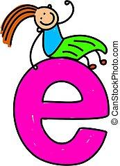 girl, e, lettre