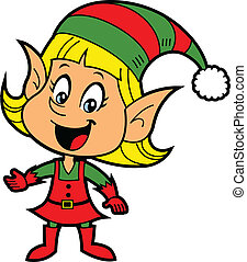 girl, elfe, noël