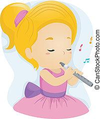 girl, flûte