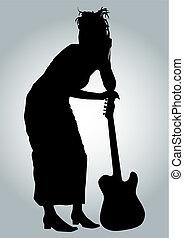 girl, guitariste