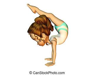 girl, gymnastique