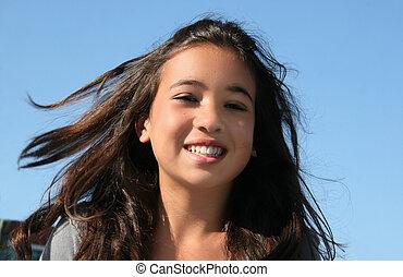 girl, heureux