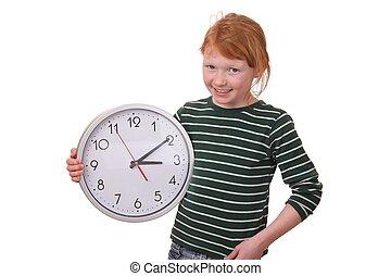 girl, horloge