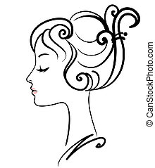 girl, illustration, figure, vecteur, beau