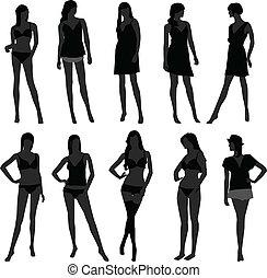 girl, lingerie, mode, femme femelle