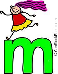 girl, m, lettre
