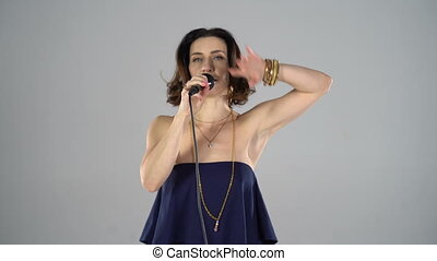 girl, microphone, chant