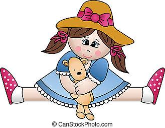 girl, ours, séance, teddy