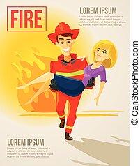 girl, porter, pompier