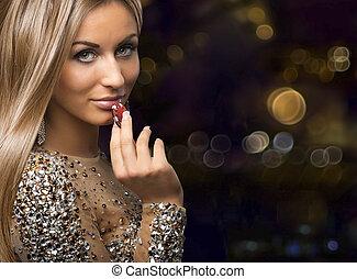 girl, puces casino, boleh, fond