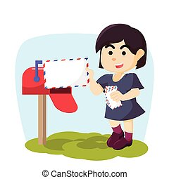girl, réception, email