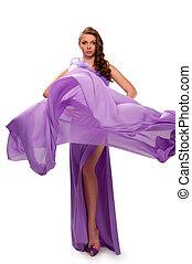 girl, robe