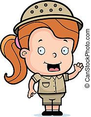 girl, safari