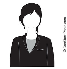 girl, silhouette, complet