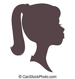 girl, silhouette, figure