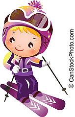 girl, ski