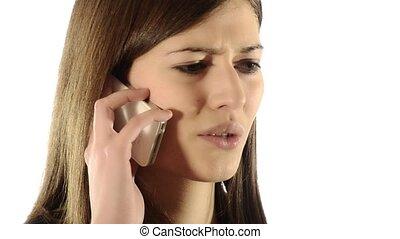 girl, téléphone, disputer