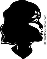 girl, vecteur, silhouette