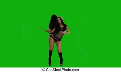 girls?dancing, on?the, deux, vert