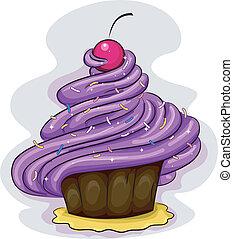 glaçage, petit gâteau
