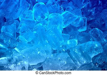 glace bleue, fond