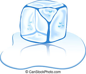 glace, cube.