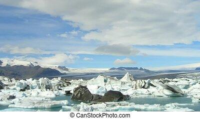glacier, islande, défaillance, temps