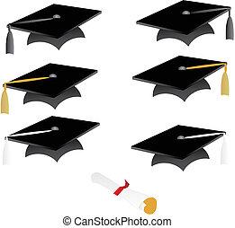 gland, casquette, remise de diplomes