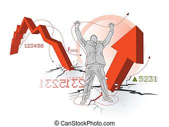 global, économique, récupération