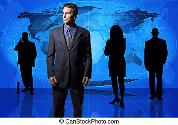 global, équipe, business