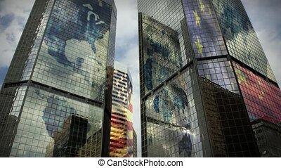global, (1186), gratte-ciel, business