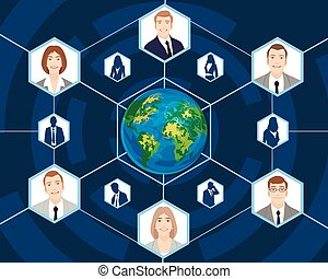 global, affaires gens