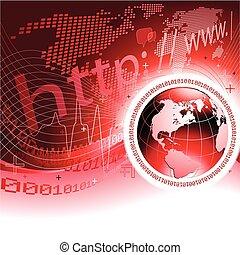 global, concept, communications