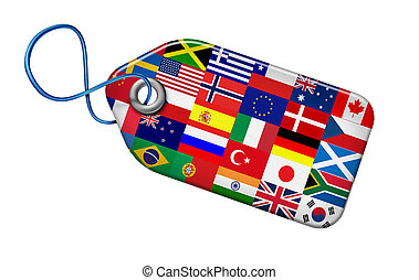 global, concept, marchés
