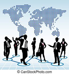 global, concept, ressources humaines
