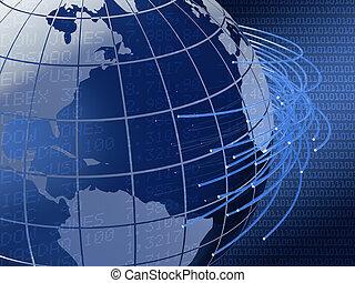global, conception, télécommunications, fond